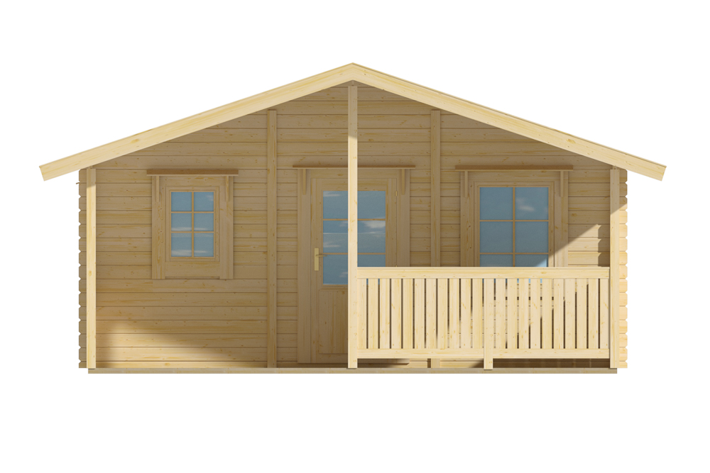 Grand abri de jardin en bois de 20m2 avec terrasse for Grand abri de jardin