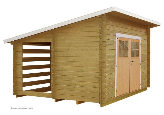 Abri de jardin multifonction 207 11m2 stockage bois - Abri de jardin 10m2 bois ...