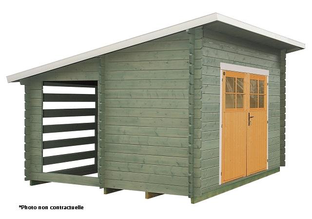 abri de jardin multifonction 207 11m2 stockage bois lillevilla. Black Bedroom Furniture Sets. Home Design Ideas
