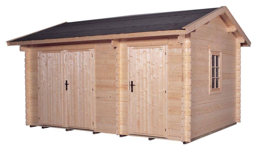 abri de jardin en bois lillevilla 12 tiina de 12m2 28mm. Black Bedroom Furniture Sets. Home Design Ideas
