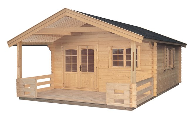 chalet de jardin en bois lillevilla 65 donessa de 19 8 avec plancher. Black Bedroom Furniture Sets. Home Design Ideas