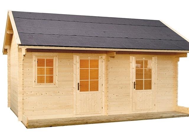 chalet de jardin 15m2 en bois lillevilla 94 34mm avec plancher. Black Bedroom Furniture Sets. Home Design Ideas