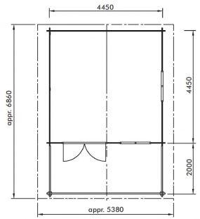 plan abri de jardin lillevilla 65