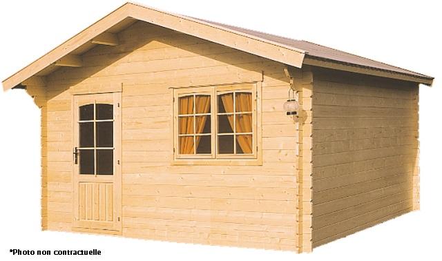 abri de jardin 15m2 en bois lillevilla 87 pekkala m4 44mm luoman. Black Bedroom Furniture Sets. Home Design Ideas